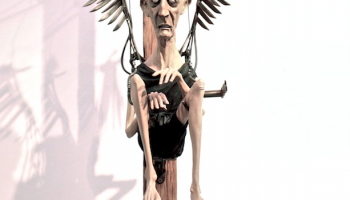 """Angel"", sculpture. Scrap metal and e-poxi resin (SOLD)"