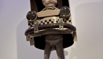 """Cab"", sculpture. Scrap metal and e-poxi resin (SOLD)"