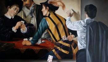 """Trappola"", óleo sobre tela, 120 x 100 cm."