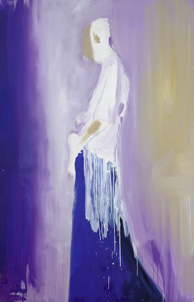 """""""Nueva Virgen"""", Acrílico sobre tela, 130 x 200 cm."""