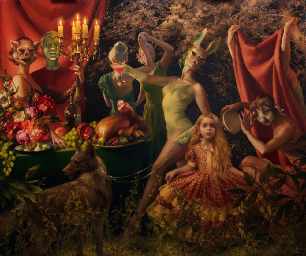 """""""The Dinner Party"""" , oil on canvas, 60 x 72 in"""